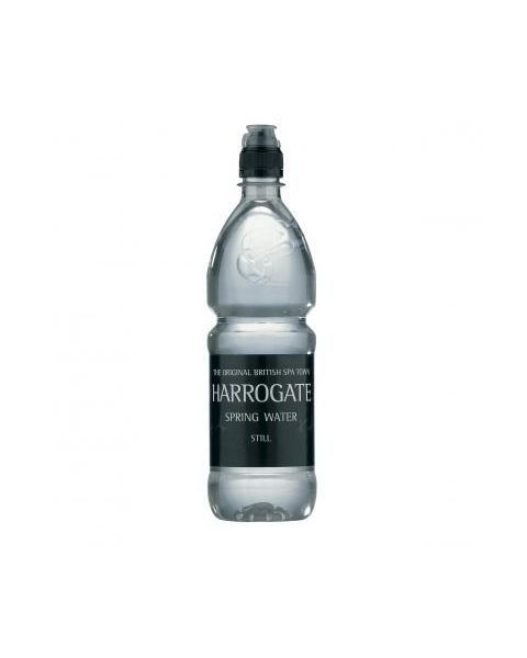 Natūralus negazuotas mineralinis vanduo HARROGATE Sportscap,750ml