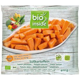 Šaldyti saldžiųjų bulvių gabaliukai BIO INSIDE, ekologiški, 400g