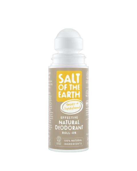 Natūralus rutulinis dezodorantas SALT OF THE EARTH su gintaru ir santalu, 75 ml 2
