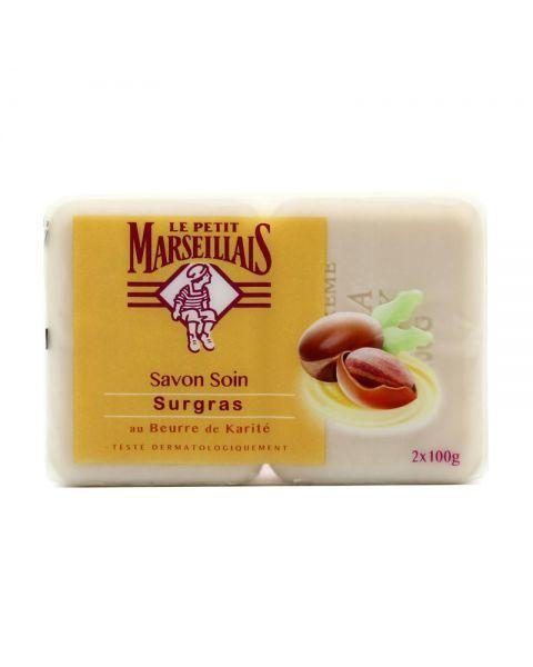 Muilas LE PETIT MARSEILLAIS su taukmedžio sviestu, 2x100g