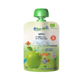 Ekologiška obuolių tyrelė kūdikiams nuo 4 mėn. FLEUR ALPINE, 90 g