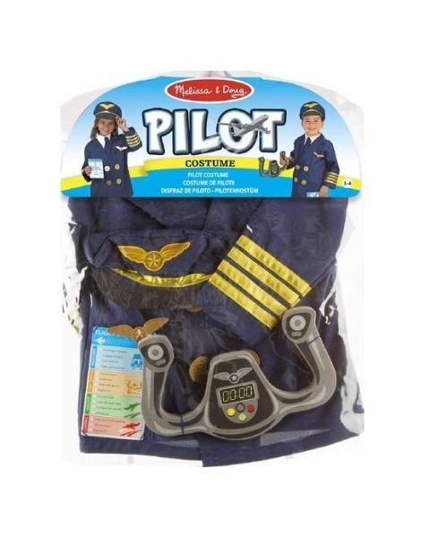 Piloto kostiumas ir aksesuarai MELISSA & DOUG, 1 vnt.