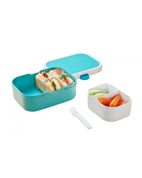 Vaikiška maisto dėžutė su skyreliais MEPAL Campus turkio mėlyna, 1 vnt. 4