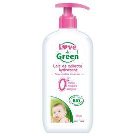 Ekologiškas drėkinantis kūno pienelis kūdikiams LOVE&GREEN, 500 ml