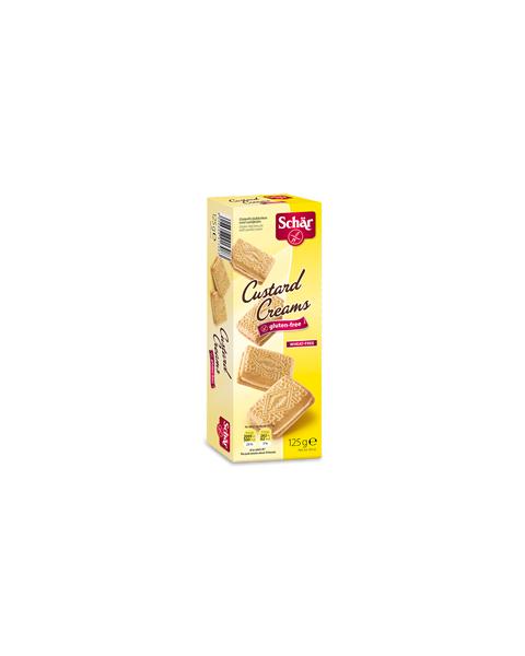 Sausainiai su vaniliniu kremu SCHAR Custard creams be gliuteno, 125g
