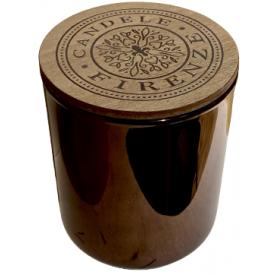 "Namų  žvakė CANDELE FIRENZE ""Metalic Chestnut Tuscia Fragrance"", 100x90 mm, 60 h, 1 vnt."