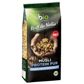 Ekologiški dribsniai BIOZENTRALE su dideliu baltymų kiekiu, 375 g