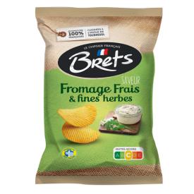 Bulvių traškučiai BRET'S tepamo sūrelio ir žolelių skonio, 125g