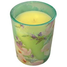 CANDELE FIRENZE stiklinė žvakė, gėlių kvapo, 60h, 1 vnt