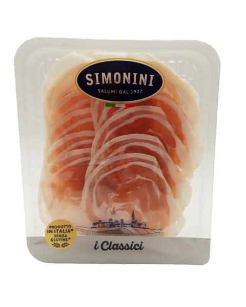 """Vytinta šoninė """"Pancetta"""" SIMONINI, griežinėliai, 100 g"""