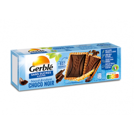 Sausainiai GERBLE su juoduoju šokoladu be pridėtinio cukraus, 126 g