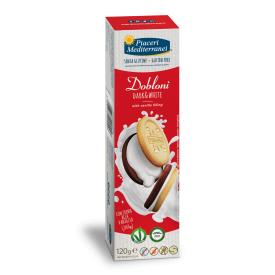 Sausainiai Dobloni PIACERI MEDITERRANEI, be gliuteno, 120 g