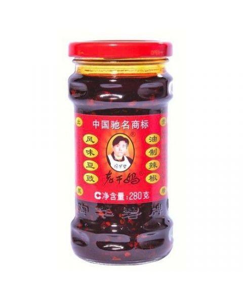 Konservuotos juodosios pupelės čili pipirų aliejuje LAOGANMA, 280 g