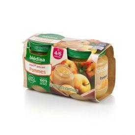 Obuolių tyrelė BLEDINA nuo 4-6 mėn., 2x130 g