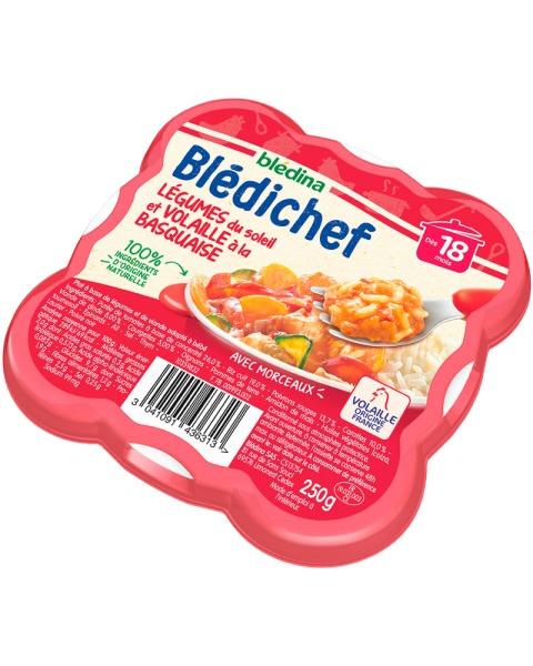 Baskų troškinys su daržovėmis ir vištiena gabaliukais BLEDINA nuo 18 mėn., 250 g