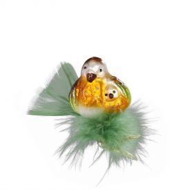 """Rankų darbo kalėdinis žaisliukas INGE-GLAS® """"Aš tave myliu"""", 5.5 cm, 1 vnt."""
