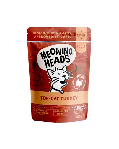 Konservai katėms su kalakutiena MEOWING HEADS TOP Cat Turkey, 100g