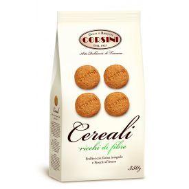 Trapios sviestinės tešlos sausainiai CORSINI su avižų dribsniais be kiaušinių, 350 g