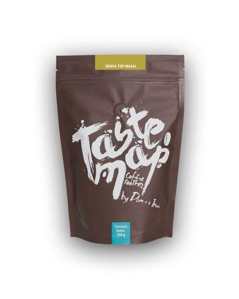 Šviežiai skrudinta kava Taste Map KENYA TOP MASAY, 250g