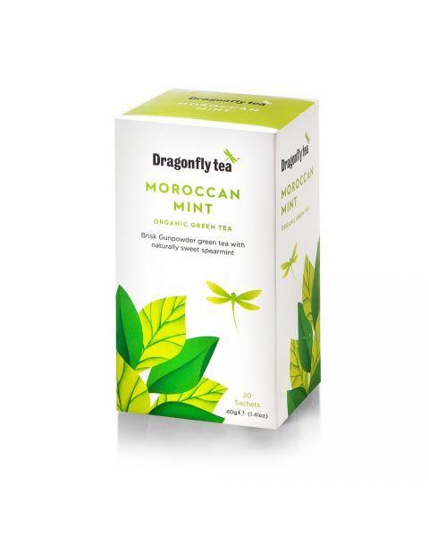 Ekologiška žalioji arbata DRAGONFLY TEAS MAROCCAN MINT  40g