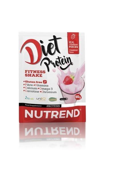 Baltymų milteliai NUTREND Diet Protein braškių skonis, 50g
