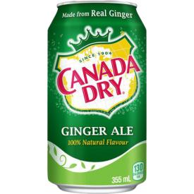 Gazuotas gėrimas CANADA DRY ginger ale, 355 ml