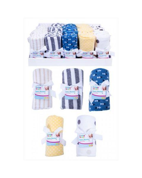 Flisinis pledukas (75x90 cm) kūdikiams FIRST STEPS nuo 0 mėn., 1 vnt.