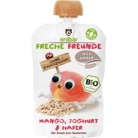 Ekologiška mangų tyrelė FRECHE FREUNDE su jogurtu ir avižomis, 100 g