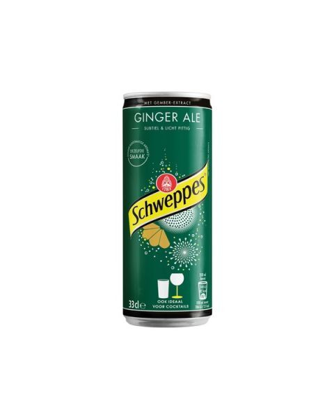Gazuotas gėrimas SCHWEPPES ginger ale skonis, 330 ml
