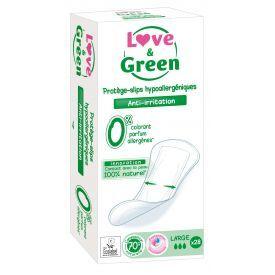 Ekologiški dideli kasdieniai įklotai LOVE&GREEN, 28 vnt.