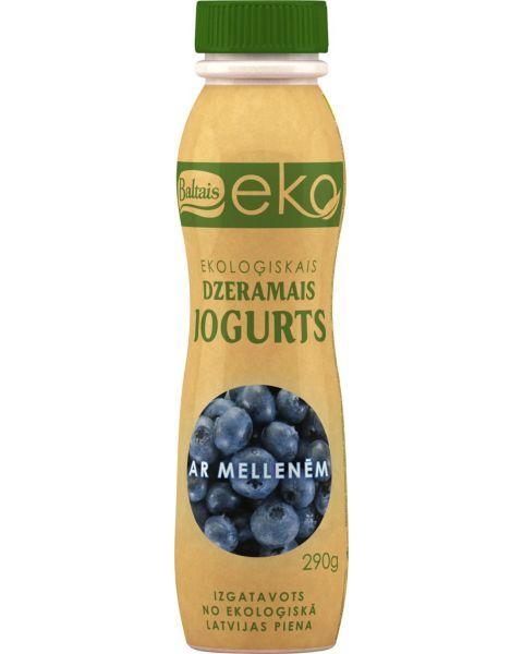 Ekologiškas geriamasis jogurtas BALTAIS su mėlynėmis, 290g