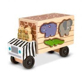"""Medinis sunkvežimis-formelių rūšiuoklis MELISSA & DOUG """"Safari Animal Rescue"""", 1 vnt."""