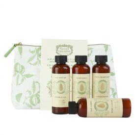 Rinkinys su migdolais PANIER DES SENS (dušo gelis 70ml, šampūnas 70 ml, kondicionierius 70 ml, kūno losjonas 70 ml), 1 vnt.