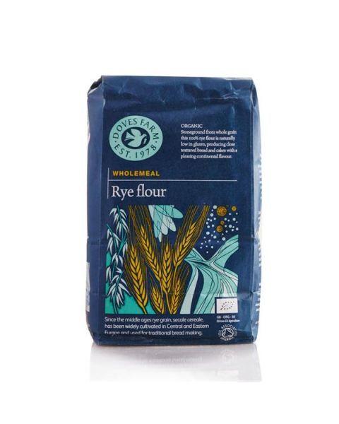 Ekologiški pilno grūdo ruginiai miltai DOVES FARM, 1 kg