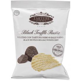 Bulvių traškučiai TARTUFI JIMMY, su juodaisiais triufeliais ir jūros druska, 90g