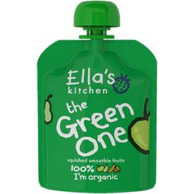 Ekologiška obuolių, kriaušių, bananų ir kivi tyrelė ELLA'S KITCHEN The Green One vaikams nuo 1 m., 90 g