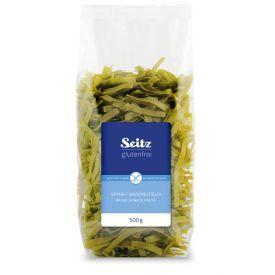 Makaronai SEITZ su špinatais, be gliuteno, 500 g