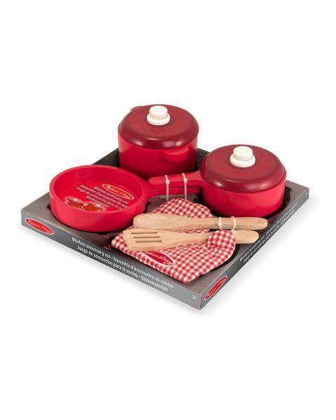 Medinis virtuvės įrankių ir puodų rinkinys MELISSA & DOUG, 1 vnt.