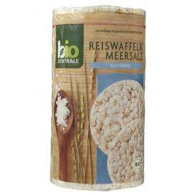 Ekologiški rudųjų ryžių trapučiai BIOZENTRALE su jūros druska, 100g