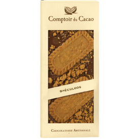 "Pieninis šokoladas su sausainiais ""Spéculoos"" COMPTOIR du CACAO, 90 g"