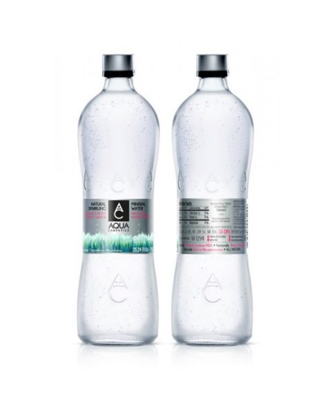 Natūralus mineralinis vanduo AQUA CARPATICA su sumažintu natrio kiekiu, gazuotas 750ml