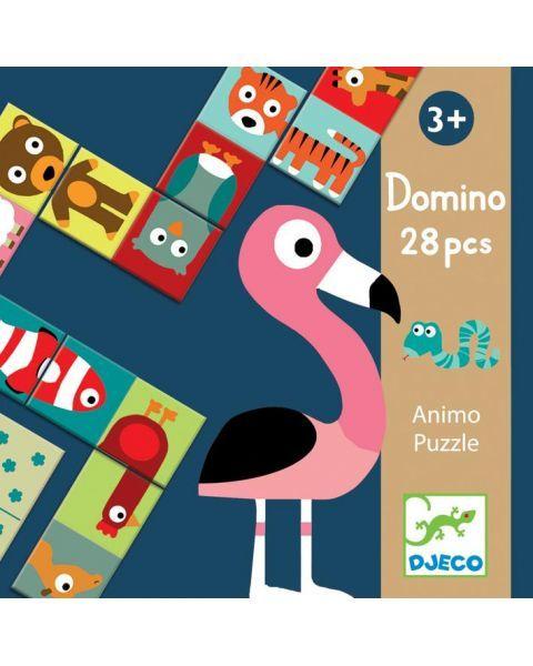 Domino DJECO Gyvūnai vaikams nuo 3 metų, 28 detalės (DJ08165)