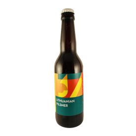 Šviesusis alus SAKIŠKIŲ Lithuanian Pilsner 4,7%, 330 ml