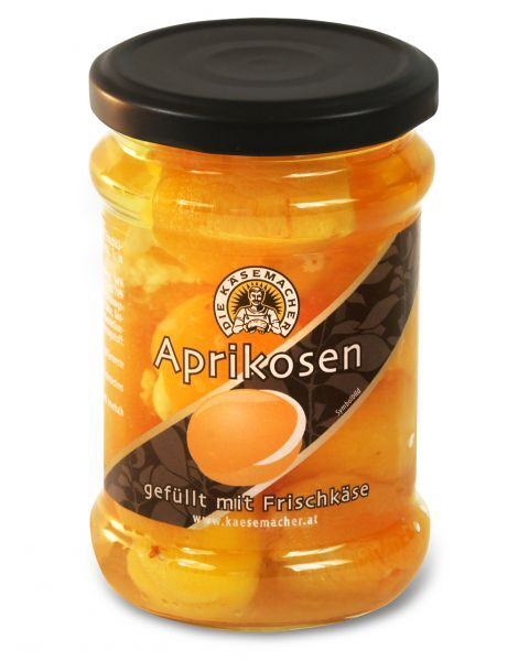 Abrikosai įdaryti sūriu DIE KASEMACHER, stikle, 250 g