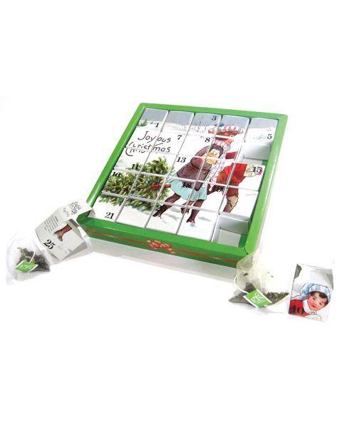 Ekologiškos arbatos advento kalendorius ENGLISH TEA SHOP Joyous Christmas, 25 maišeliai