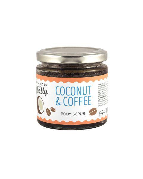 Ekologiškas kūno šveitiklis su kokosais ir kava ZOYA GOES PRETTY, 200 g