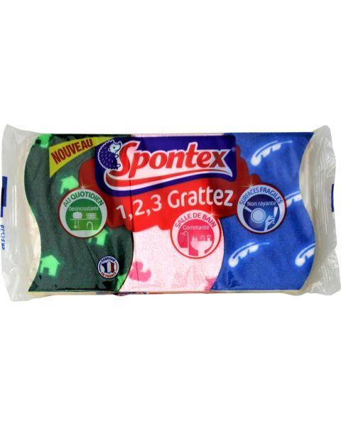 SPONTEX kempinės 3 paviršiam, 3 vnt