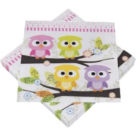 Serviravimo servetėlės HEKU pelėdžiukai, 3 sluoksnių, 33 x 33 cm, 20 vnt