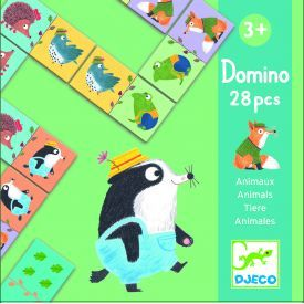 Edukacinis žaidimas DJECO Domino Animals (DJ08115)
