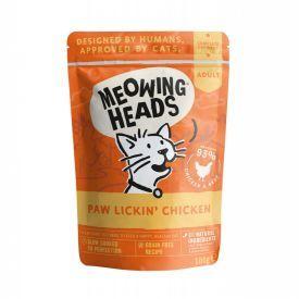 Konservai katėms su vištiena MEOWING HEADS Chicken, 100g